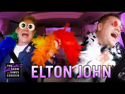 In this extended version for the web, James Corden asks Elton John to help him navigate Los Angeles on a rainy day while the two sing some of his songs, incl...