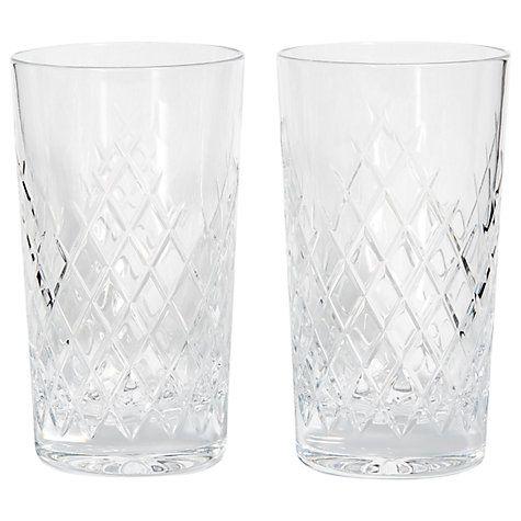 Buy Soho Home Barwell Crystal Cut Highball Glasses, 300ml, Set of 2 Online at johnlewis.com