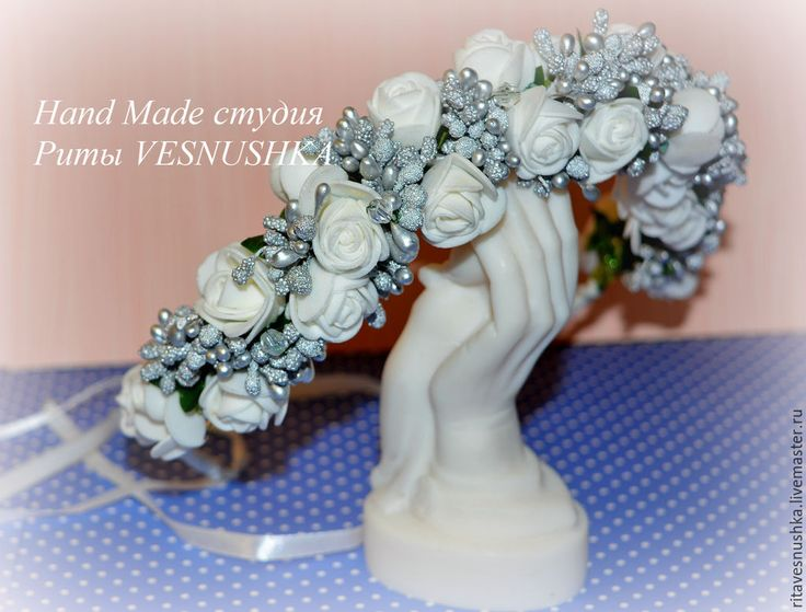 Купить Венок-ободок для волос - венок из цветов, венок на голову, венок для невесты, венок для фотосессии