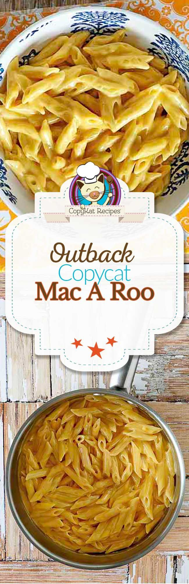 Outback Steakhouse makes a delicious macaroni and cheese, you can make one just like they do at home. No need to steal your child's food anymore.