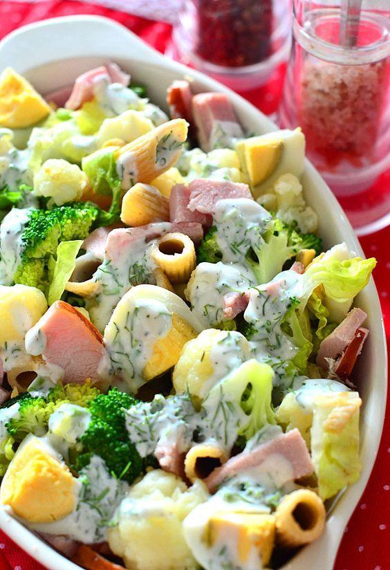 Salatka Makaronowa Z Brokulami Przepisy Joli Salatka Makaronowa