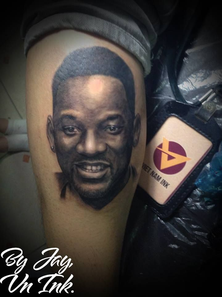 #tattoo #potrait #jaynguyen #vietnamink #vietnam #ink #hình #xăm #jay #nguyen #willsmith #will #smith