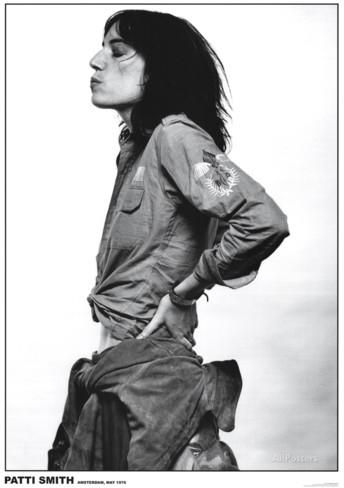 Patti Smith-Amsterdam 1976 Poster