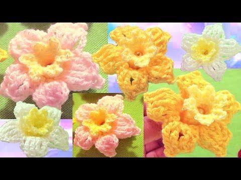 Aprende como tejer a Crochet flores campanitas de colores - Flower Crochet - YouTube