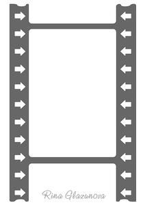 Film Strip Frame With Arrows on Craftsuprint - View Now!