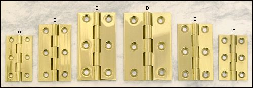 Extruded Brass Fixed-Pin Butt Hinges - Hardware