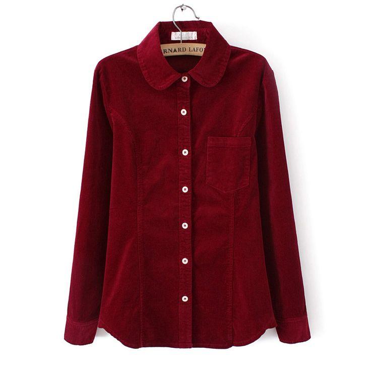 Retro Style Velvet Shirt (B0074)    #caterpillar #barnard #lafond #bernardlafond #cottage glaze #groove #moda #shop #shopping #blouse #womenblouse #girlsblouse #shop