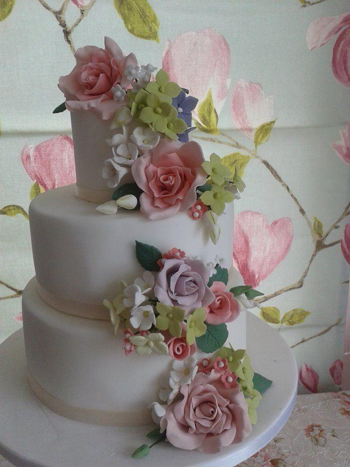 handmade summer flower bouquet cascade