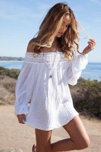 White top, summer outfit, summer dress, beach dress. How to be stylish in summer? http://justbestylish.com/10-secrets-how-to-be-stylish-in-summer/