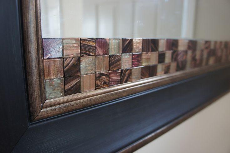 Glue tiles to a mirror broken mirror diy thrifty diy