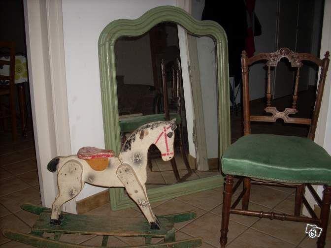 Grand miroir ancien et sa chaise Ameublement Vendée - leboncoin.fr