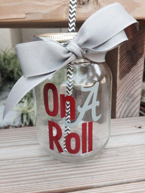 Alabama Roll Tide Personalized Mason Jar by TooCutePersonalized