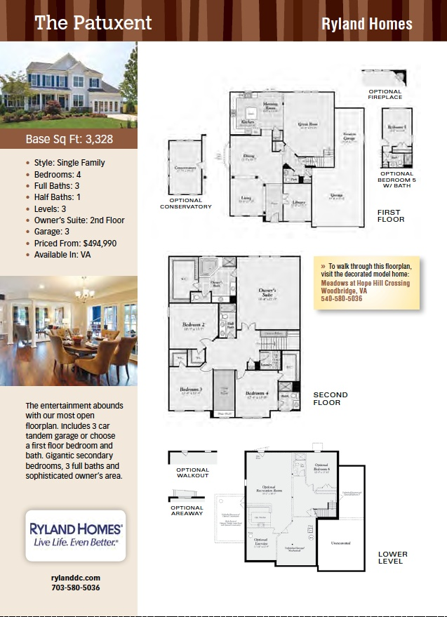 ryland homes house plans - Ryland Homes Colorado Floor Plans