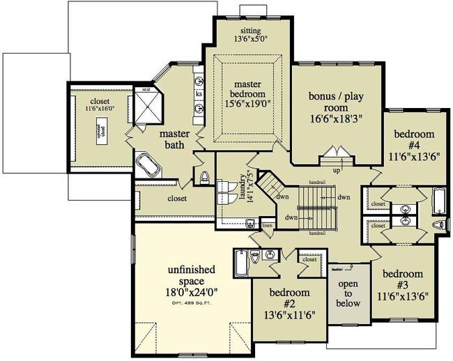 2 story house floor plans two story colonial house One story colonial house plans
