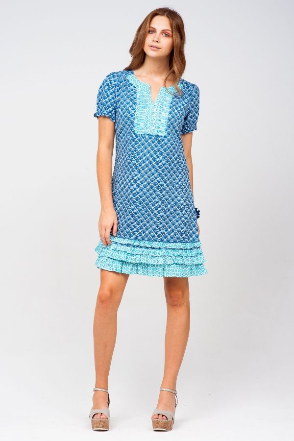 Wendy Shell Navy dress - Beach and Resort Wear by Firefly $99