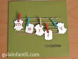Resultado de imagen para tarjetas de navidad hechas a mano