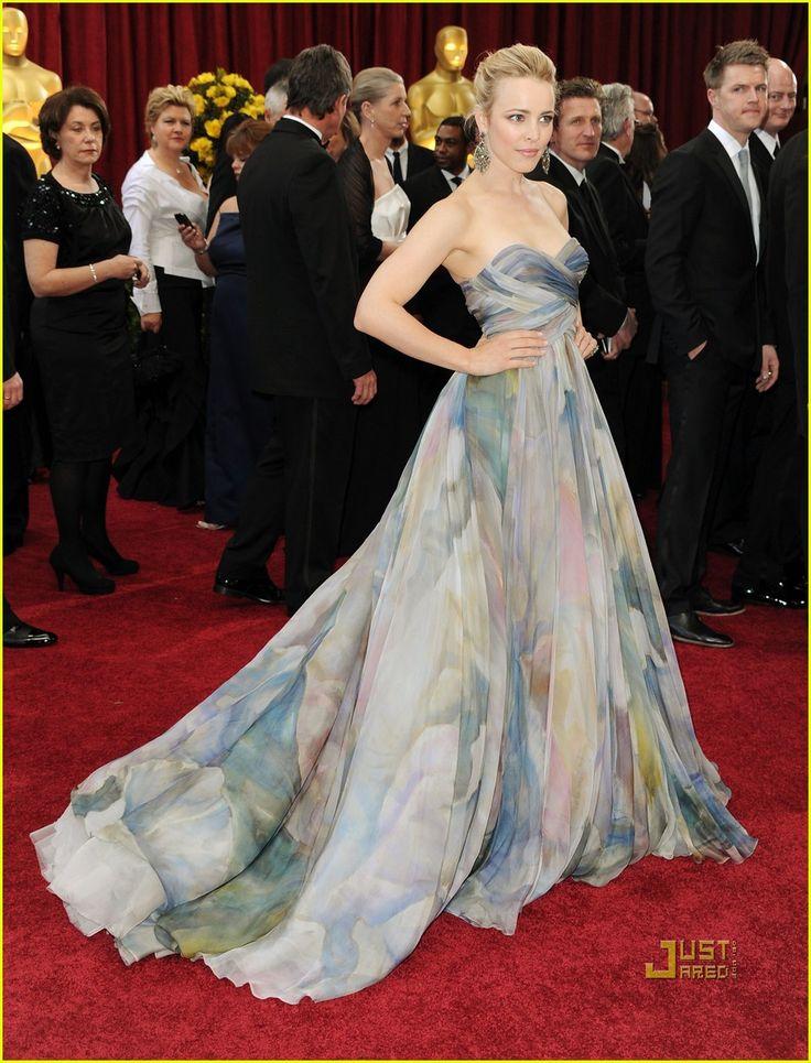 """Rachel McAdams, """"Water Lilies"""", Elie Saab, Oscars 2010"""