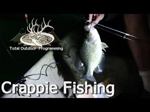 How to catch crappie at night using a light, night time pan fishing tips - YouTube