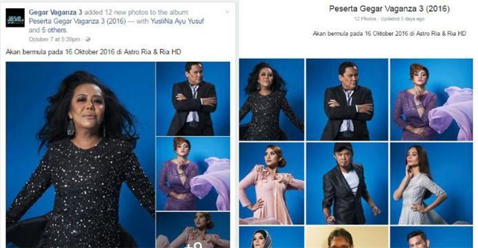 Gambar yang tersebar dari Facebook palsu itu belum diedit  Gegar Vaganza siar gambar promo peserta GV3 selepas edit   Gambar yang tersebar dari Facebook palsu itu belum diedit  Gegar Vaganza siar gambar promo peserta GV3 selepas edit | Gambar sesi fotografi 12 peserta GegarVaganza 3 (GV3) telah tersebar dan menjadi viral di laman sosial.  Bagaimanapun banyak pihak yang memberikan komen negatif selepas melihat hasil gambar tersebut.  Gambar yang tersebar dari Facebook palsu itu belum diedit…