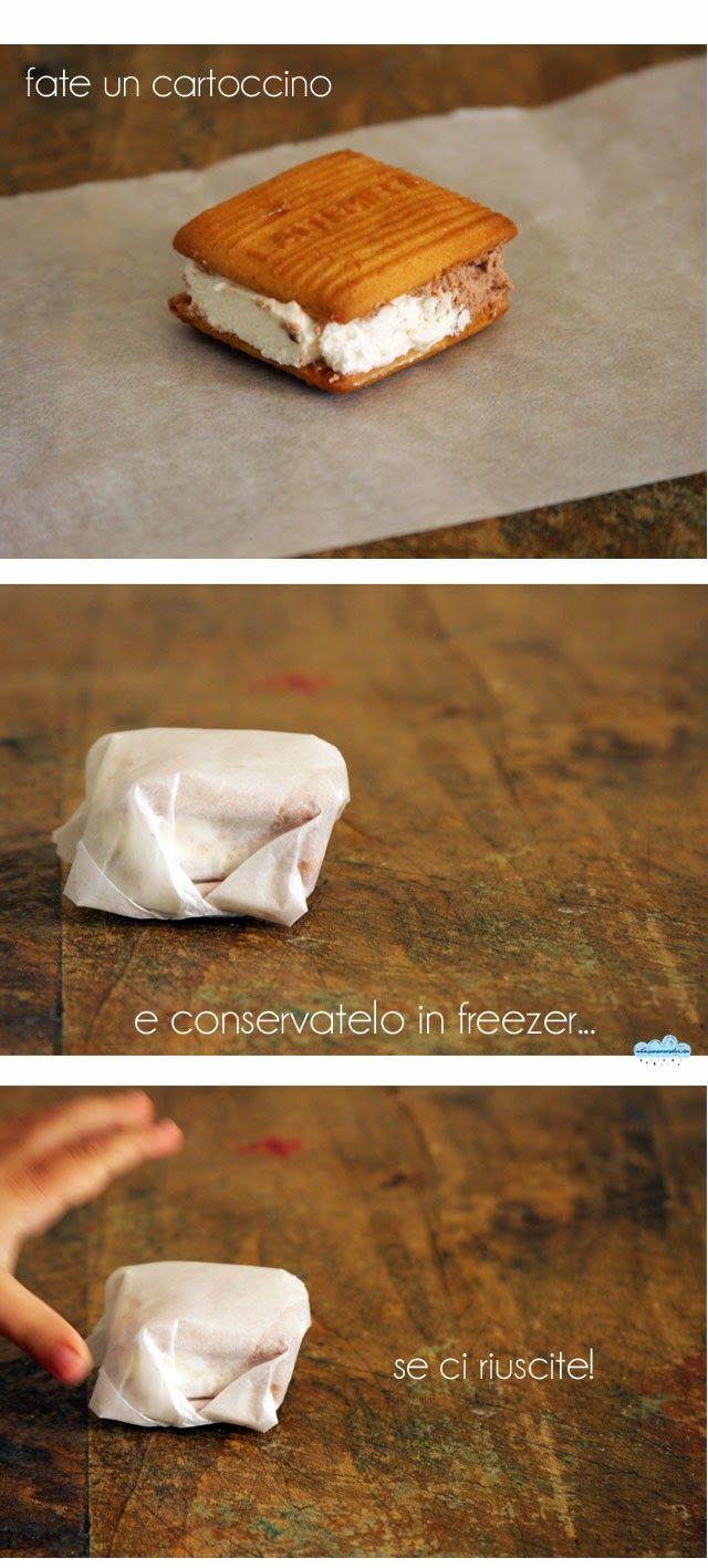 Quandofuoripiove: La ricetta del gelato col biscotto