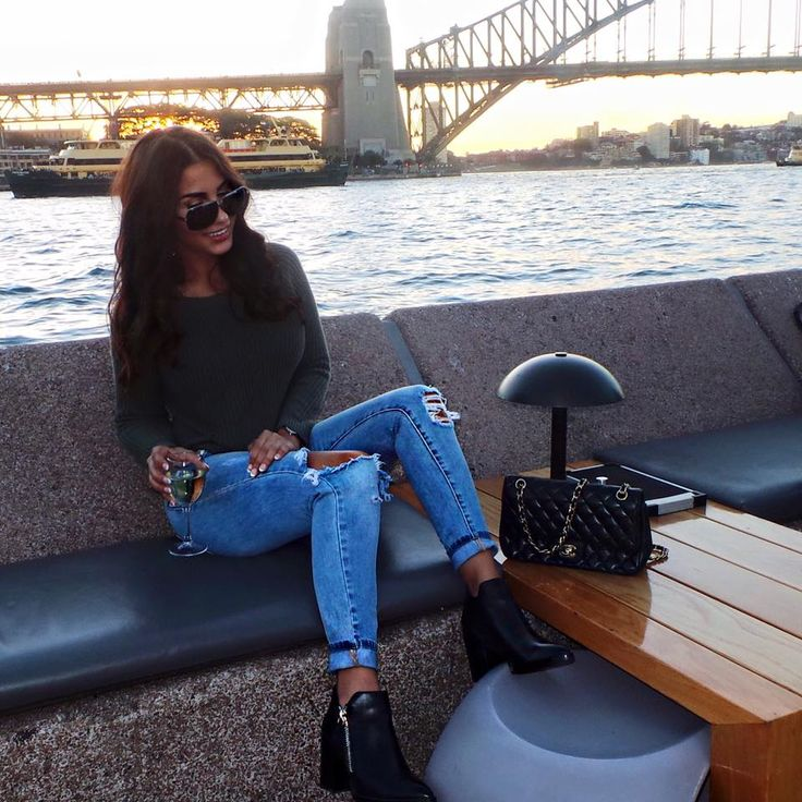 Andriana Chidiac in our 'Paloma' Freelance Shoes Boots