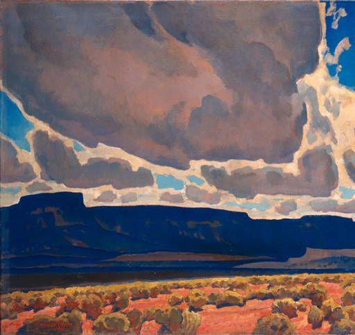 Maynard Dixon (1875-1946), Mesas in Shadows, 1926