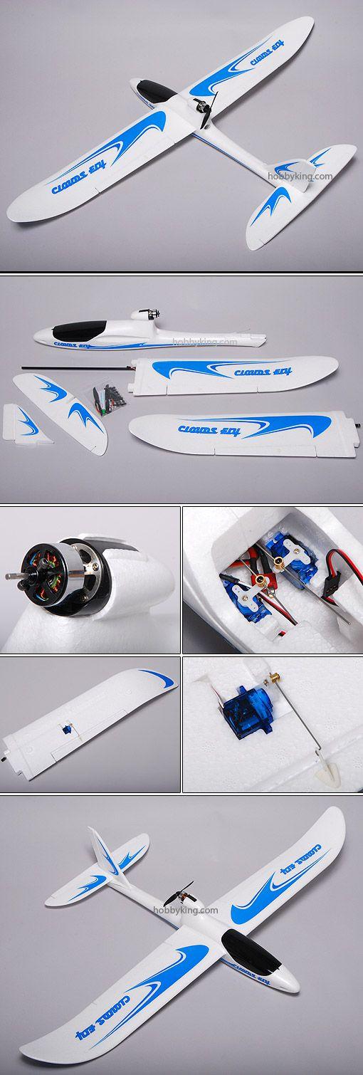 AXN Floater-Jet w/ Servo, Motor, ESC (EPO) PNF ~ liam 1st rc plane