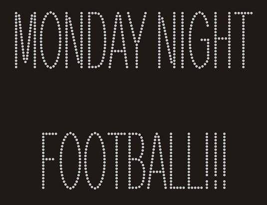 MONDAY NIGHT FOOTBALL Rhinestone Motif Design tshirt Monday