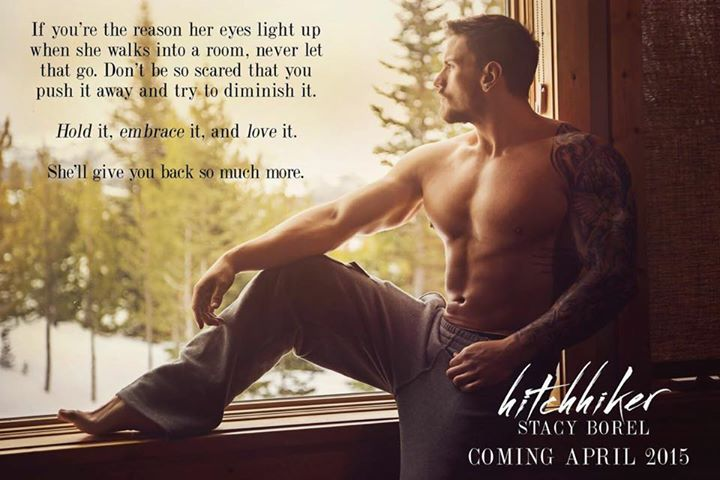 "Shawn Dawson on teaser for Stacy Borel's new book out in April ""The Hitchhiker""."