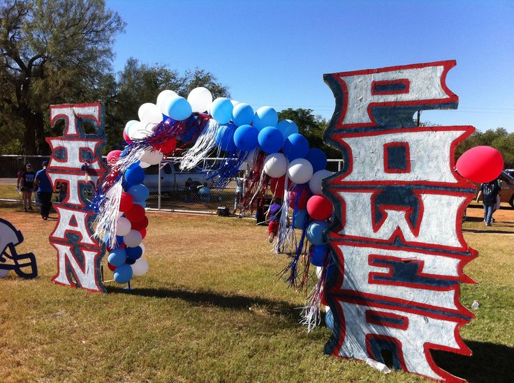 peewee football homecoming decorations