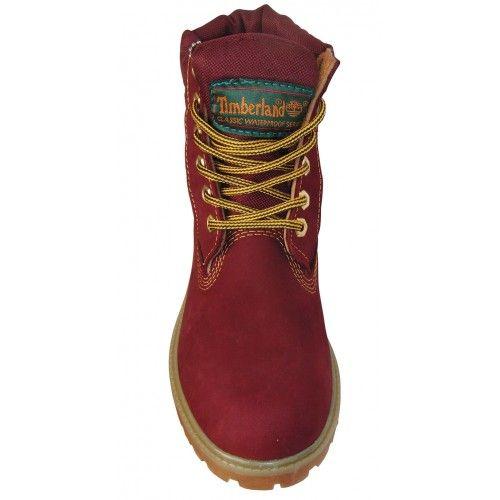 Купить женские бордовые ботинки Timberland