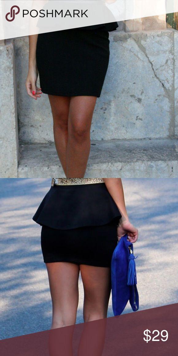25% off bundles 🌸 Zara woman black peplum skirt Nwt Zara Skirts