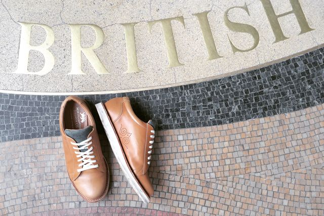 Sneaker Freaker - our favourite photo of the shoes we helped craft for Northampton Sneaker Co.