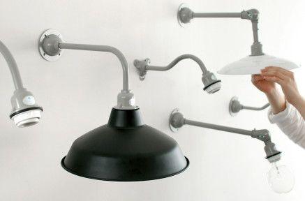 【実用主義のともしび】¥3,550〜 工業製品のような飾らない形の照明器具です。ざっくりとした空間にぴったり。