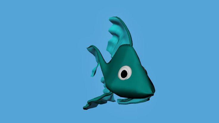 Bàrbara Ruisánchez Andreu: Peis  3D art digital Illustration, fish, pez, animación3D