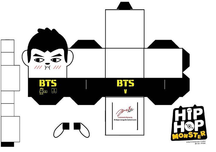 BTS Hip Hop Monster V Papercraft by ill-dope-swag.deviantart.com on @DeviantArt