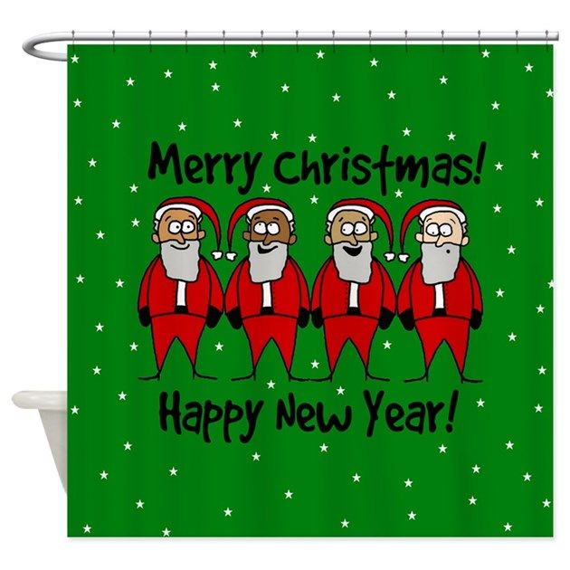 4 Sta. Claus - holiday shower curtain