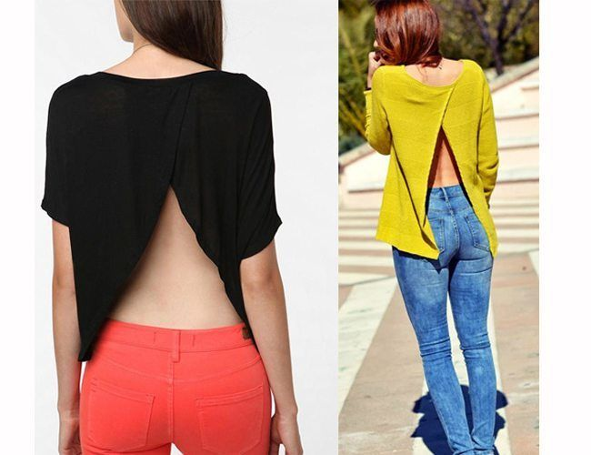 27 diy t shirt cutting ideas to try on your old outfits for new look - T Shirt Design Ideas Cutting