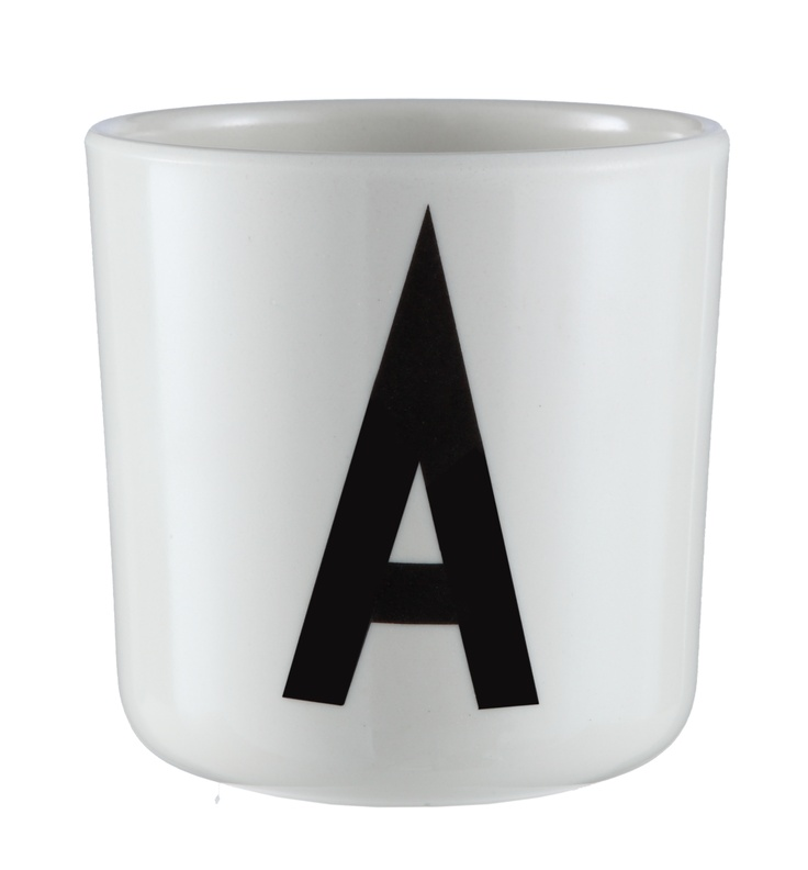 Our melamine cup with Arne Jacobsen typography - the perfect gift idea!