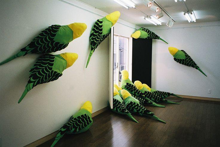 Wakako Kawakami's Striking Installations of Giant Textile Birds   Hi-Fructose Magazine