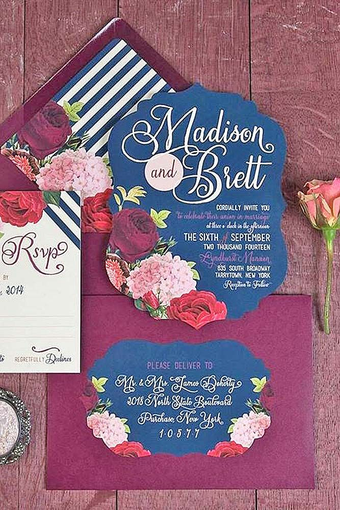 Fall Wedding Invitations With Brilliant Colors Of