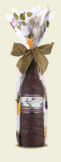 Wine in a Chocolate Covered Bottle. What a great gift idea!
