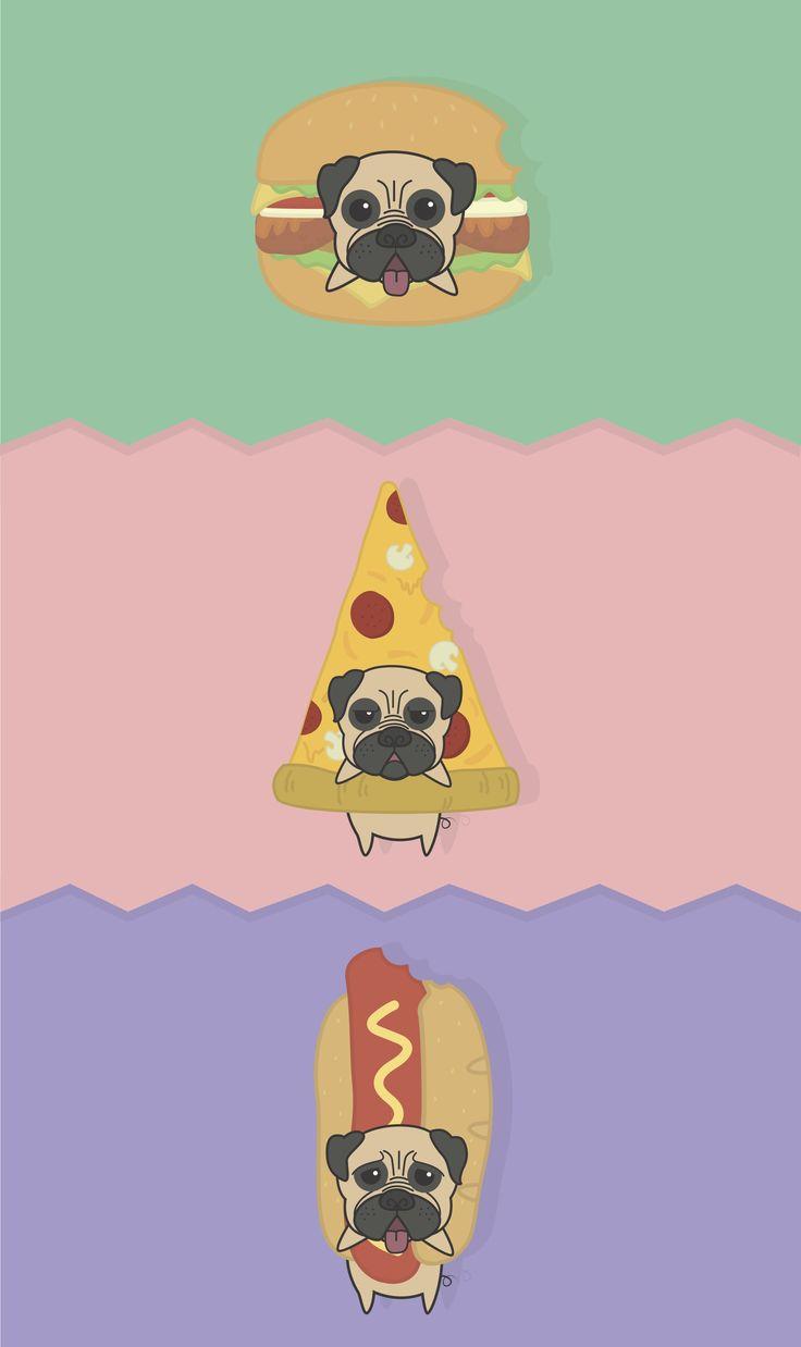 #puggie #fasfood #berger #hotdog #pizza