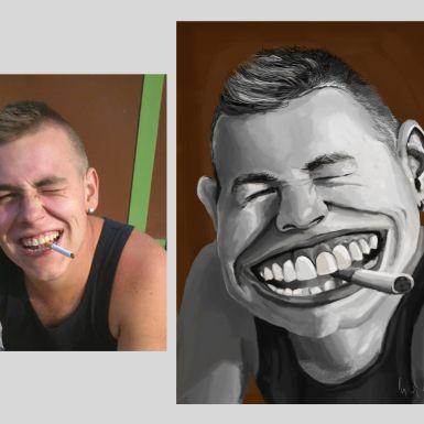 Vytvorím digitálnu karikatúru podľa kvalitnej fotografie. Cena je daná pre čiernobielu verziu. Formát je na vás, cena ohľadom formátu sa nemení kedže