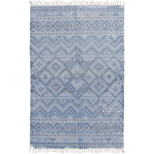 Surya CSK1301-576 Chaska 5' x 8' Rectangle Cotton Power Loomed Transitional Area - Blue