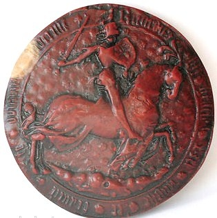 """Richard III's wax seal. """"…We have no difficulty in pronouncing Richard's parliament the most meritorious national assembly for protecting the liberty of the subject and putting down abuses in the administration of justice that had sat in England since the reign of Henry III..."""" Lives of the Lord Chancellors of England"""