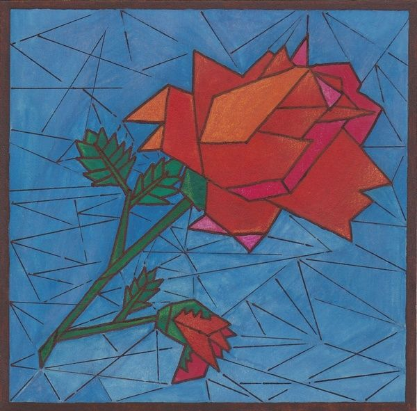 Cubism Art Flowers | Cubism Rose Cubism rose. cubism rose