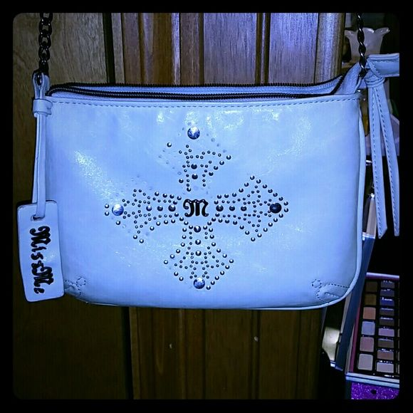 Miss Me purse Cross body Miss Me purse. Pre-loved with some stones missing, but still super cute. Make me an offer:) Miss Me Bags Crossbody Bags