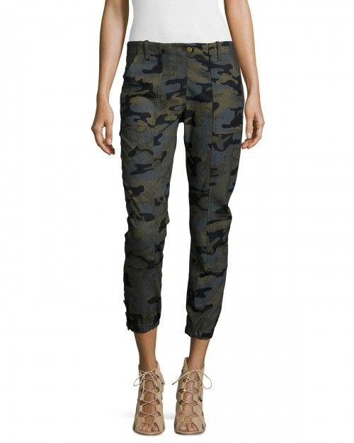 Veronica+Beard+Field+Camouflage+Print+Cargo+Pants+Women's+6+Green+|+Clothing