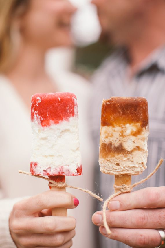 strawberries & cream and root beer float popsicles   | photo by Brandon Kidd | 100 Layer Cake
